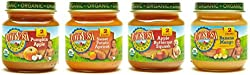 Earth's Best Organic Stage 2 Baby Food, Fruit Blends Variety Pack, 4 Ounce Jars, Pack Of 12