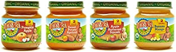 Earth's Best Organic Stage 2 Baby Food, Fruit Blends Variety Pack, 4 Ounce Jars, Pack Of 12 0