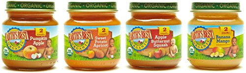 Stage 2 Antioxidant (Earth's Best Organic Stage 2 Baby Food, Fruit Blends Variety Pack, 4 Ounce Jars, Pack of 12)