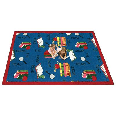 Joy Carpets 1490D Read the Word 7 ft.8 in. x 10 ft.9 in. 100 Pct. STAINMASTER Nylon Machine Tufted- Cut Pile Educational- Faith Based Rug by Joy Carpets