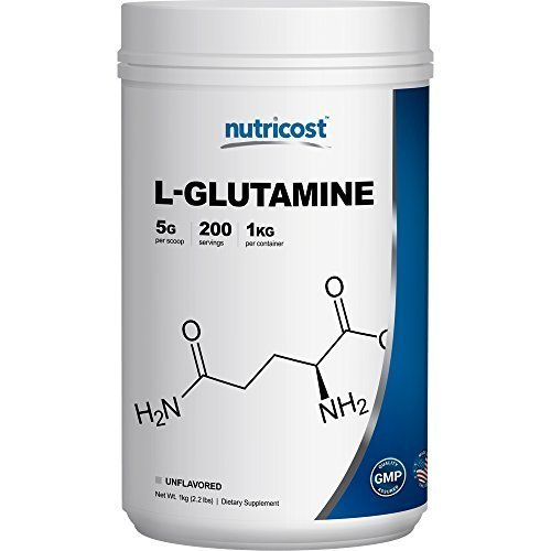 Nutricost L Glutamine Powder Pure L Glutamine 5000mg per Serving High Purity