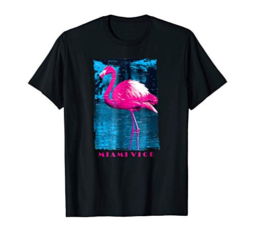 Miami Vice Original Pink Flamingo T-Shirt, male or female