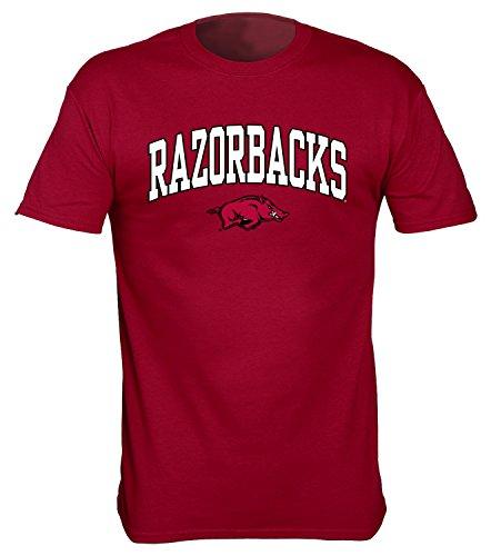 NCAA Arkansas Razorbacks Gildan T-Shirt, Large, Crimson (Razorbacks Classic Arkansas T-shirt)