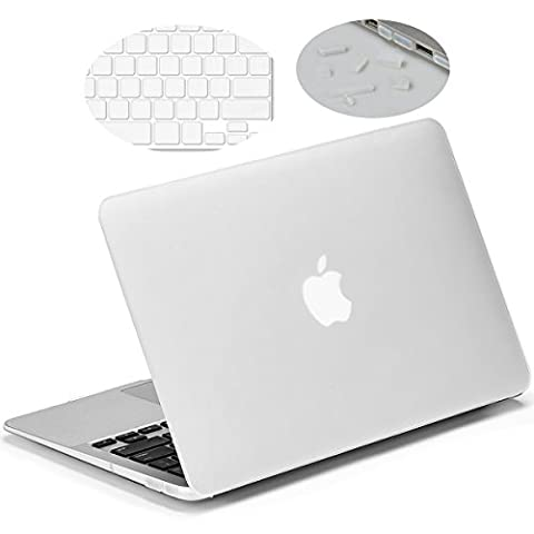 Matte Hard Case for 11-inch MacBook Air, LENTION Clear Plastic Hard Shell for Apple Mac Book Laptop, Matte Finish Case with Rubber Feet, Come with Anti-Dust Port Plugs & Keyboard Cover (Frost Clear)