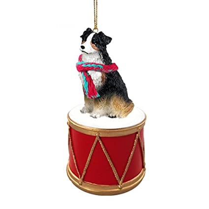 Little Drummer Australian Shepherd Tricolor Christmas Ornament - Hand  Painted - Delightful - Amazon.com: Little Drummer Australian Shepherd Tricolor Christmas