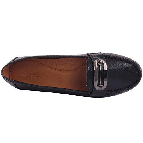 Onorevoli Uk Carnevale Mocassino Loafer Nero Metallo Slittamento Classici Flat Unze 3 Donne 8 Sul Pompa Serale Dettagli Dimensioni Shimmery Sfera In A Shoes Di HqZndxWw