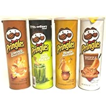 Pringles Variety Pack, Full Size New Flavor Sampler- Honey Mustard, Loaded Baked Potato, Pizza, and Dill Pickle