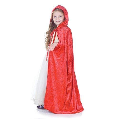 Panne Velvet Child Cape (Red)