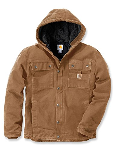 Carhartt 102285 Sandstone Barlett Mens Hooded Work Jacket marron