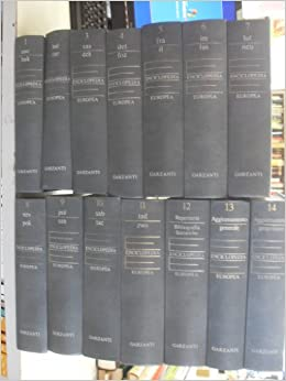 enciclopedia europea garzanti prezzo