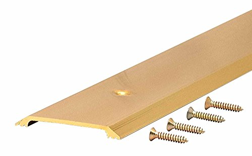 M-D Building Products 9613 M-D Ultra Flat Smooth Top Threshold, 36 in L X 2-1/2 in W X 1/4 in H, Aluminum, x 2-1/2