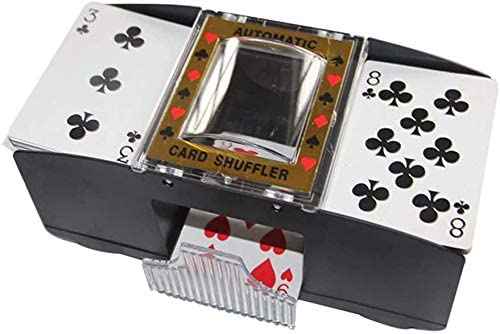 BUTIAN Automatic Poker Card Shuffler,1-2 Decks Poker Shuffles Card Shuffler Machine, Battery-Operated Electric Shuffler A Gift Funny Family Game Accessory