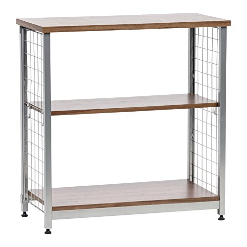 IRIS 2-Tier Wide Open Mesh Wood-Top Shelf, Brown (Inch Wide 30 Shelf)