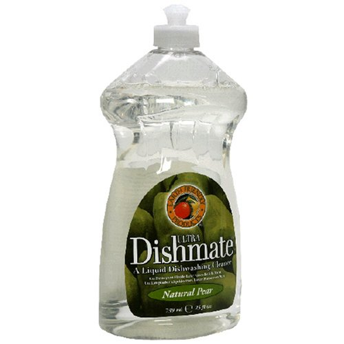 Earth Friendly Products Dishmate, Ultra Liquid Dishwashing Cleaner, Natural Pear, 25 Ounces (Pack of 12)