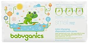 Babyganics Color Changing Disposable Swim Diapers, Small