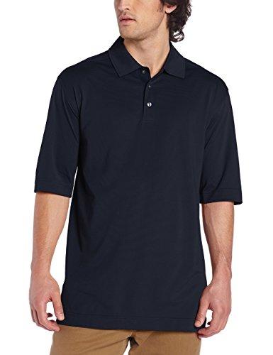 [Cutter & Buck Men's Big Medina Polo Shirt, Onyx, 2X/Tall] (Cutter Buck Logo Shirts)