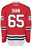 Chicago Blackhawks Andrew SHAW #65 Official Home Reebok NHL Hockey Jersey (SEWN TACKLE TWILL NAME / NUMBERS)