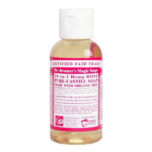 Dr. Bronner's Magic Soaps 18-in-1 Hemp Pure Castile Soaps Rose 2 fl. oz. travel size