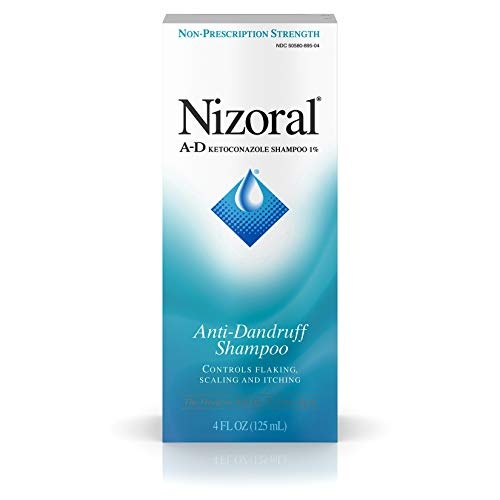 Nizoral A-D Anti-Dandruff Shampoo with Ketoconazole 1%, Dry Itchy Scalp Shampoo for Dandruff Control & Relief, 4 fl. oz (Head And Shoulders Anti Hair Fall Review)