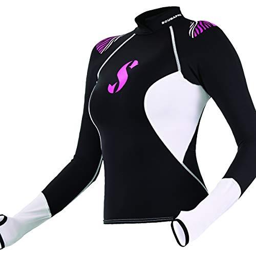 ScubaPro Hybrid Rash Guard Lady Long Sleeve - Black - Medium