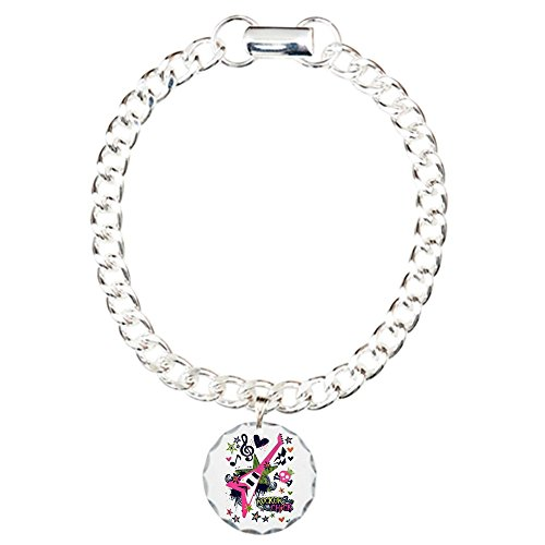 (Charm Bracelet Rocker Chick Guitar Treble)
