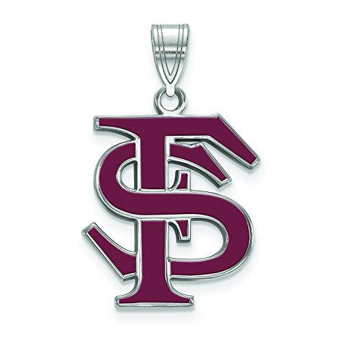 Pendant Seminoles Fsu (LogoArt Sterling Silver Florida State Seminoles Large Enamel Pendant)