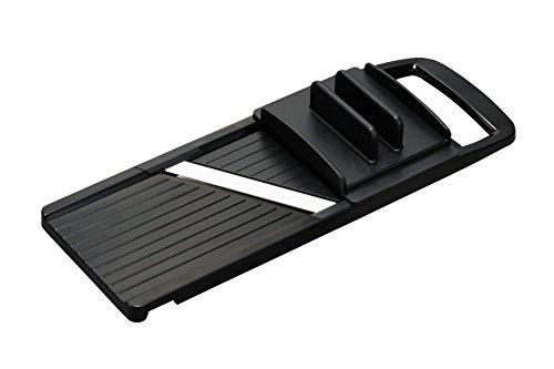 - Kyocera Wide Adjustable Slicer With Handguard; Black