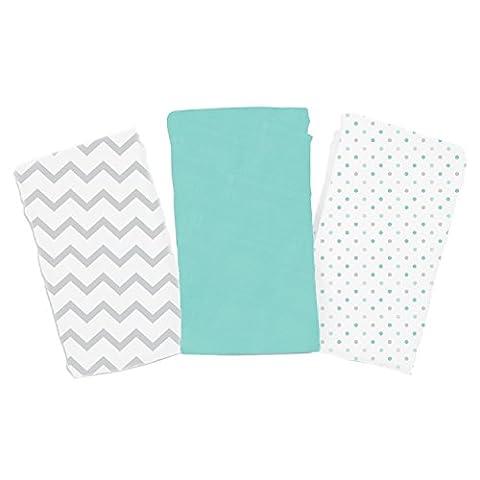 SwaddleMe Premium Muslin Blankets 3-PK, Grey Chevron & Dots (OS) - Summer Infant Sweet
