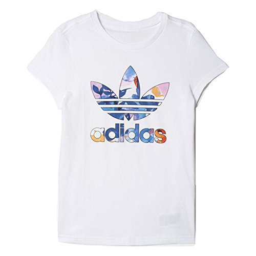 adidas Originals Girls Trefoil T Shirt Medium Grey HeatherJoy Pink