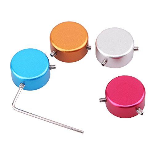 4pcs Colorful Guitar Effect Foot Nail Cap Protection Cap for Guitar Pedal Effect with 4pcs Guitar picks random colors
