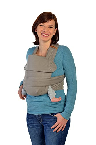 Marsupi 144-50-10-003 Baby und Kindertrage die leichte Bauch und Hüfttrage, L, Breeze/grau, genial einfach