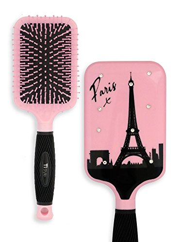Paddle Hair Brush for Detangling & Styling - Ideal for Blow-drying, Straightening, Combing All Hair Types (Paris)