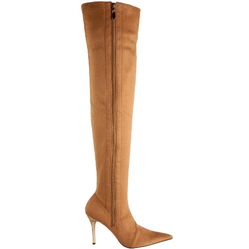 Suede Tan Highest Perfect Women's The Heel Boot 0aqB4x
