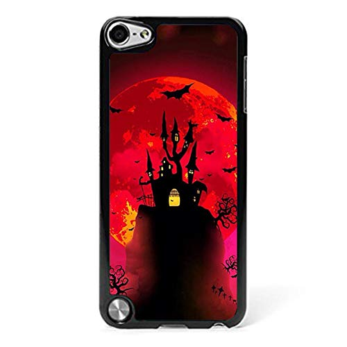 Halloween Day Phone Shell Compatible with iPod Touch 5, Hippie Horror Story Clip Art Anti Scratch Plastic Hard Back Compatible with iPod Touch 6/5 ()