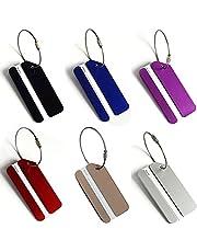 6 stuks bagagelabels met adres label, metalen kofferriem, cross, veilige reizen, aluminium tags, veiligheidsriem voor frequente reizigers, kleurrijk