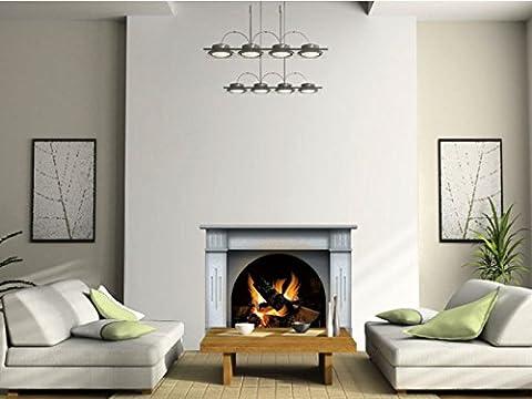 N1240 Multicolor Fireplace vinyl sticker, wallpaper decoration,Wall Stickers ... (Fireplace Wallpaper)