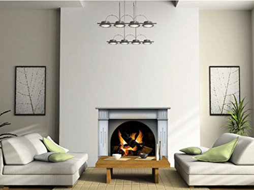 N1240A Large L - 50 Inch / H - 38.19 Inch Multicolor Fireplace vinyl sticker, wallpaper decoration,Wall Stickers ... by lepni.me