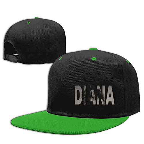 LEILEer Ross Diana Unisex Contrast Hip Hop Baseball Cap Green -