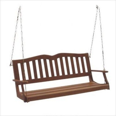 DC America SES902, Sequoia Porch Swing, Hardwood Finish by D C America