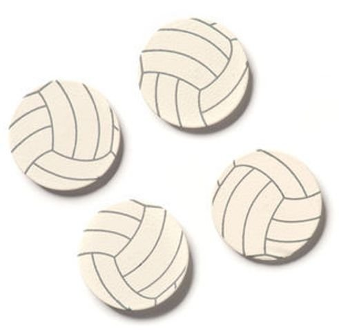 Embellish Your Story Volleyball Magnets - Set of 4 - Photo Frame Embellish -