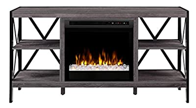 Dimplex Electric Fireplace, Media Console, TV Stand and Entertainment Center with Multiple Storage Areas and Glass Ember Bed in Autumn Bronze Finish - Ramona #GDS23G8-1974AU