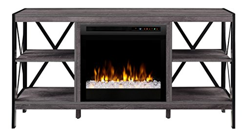 Dimplex Electric Fireplace, Media Console, TV Stand and Entertainment Center with Multiple Storage Areas and Glass Ember Bed in Autumn Bronze Finish - Ramona #GDS23G8-1974AU (Chimenea Bronze)