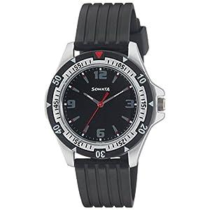 Sonata Analog Black Dial Men's Watch -NL7930PP02