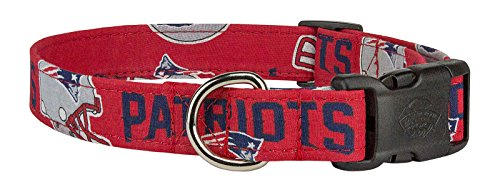 - Country Brook Design | Deluxe New England Patriots Designer Dog Collar - Large