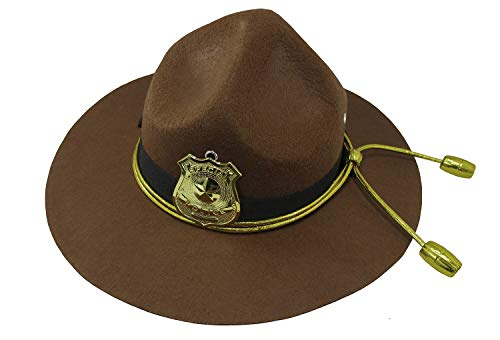 (Nicky Bigs Novelties Super State Trooper Highway Patrol Costume Hat, Brown Gold, One)