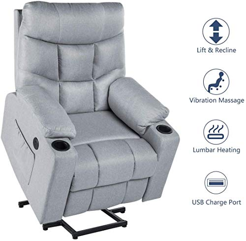 Esright Electric Gray Recliner