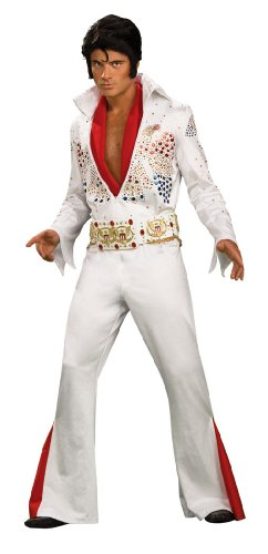 Super Deluxe Elvis Costume -White- Medium - Chest Size 40-42 by Rubie's