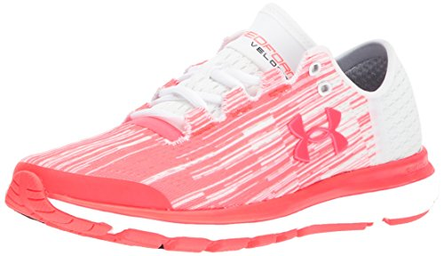 Under Armour Women's Speedform Velociti Graphic, Marathon Red/White/Marathon Red, 10 B(M) US by Under Armour
