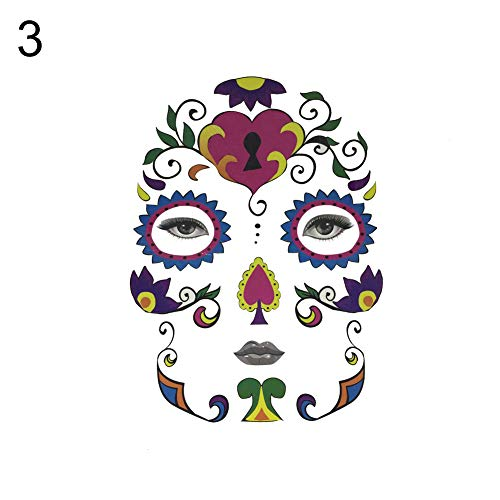 CHoppyWAVE Halloween Temporary Tattoo Face Sticker Cosplay Masquerade Body Art Makeup Decal - 3#