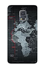 New Style Tpu S5 Protective Case Cover/ Galaxy S5 Case - Grey World Map